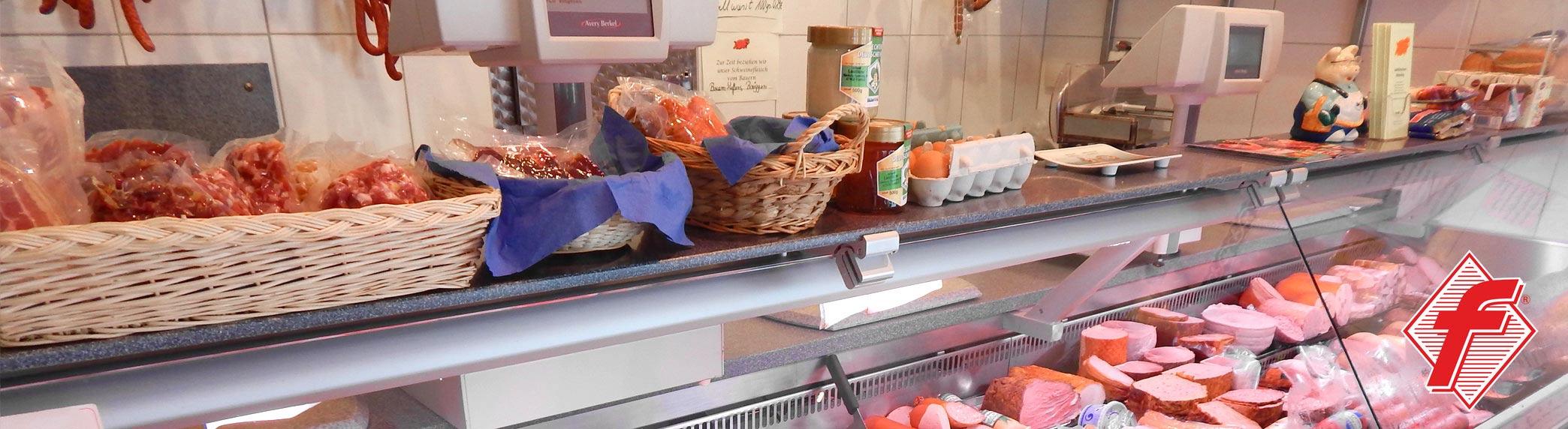 Landfleischerei Hinterding in Krefeld am Niederrhein - in unserem Ladenlokal bringen wir Ihnen täglich die Frische vom Land
